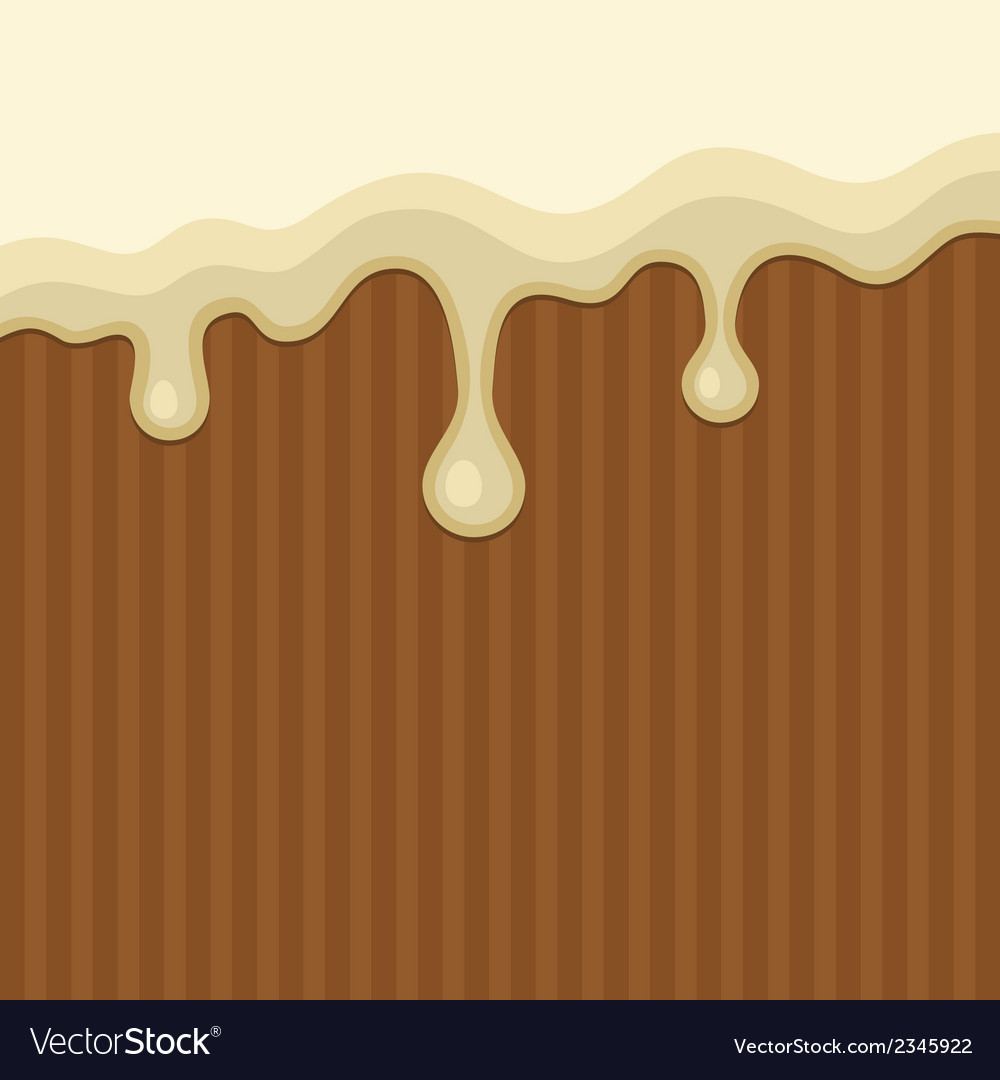 White melted chocolate streams background vector   Price: 1 Credit (USD $1)