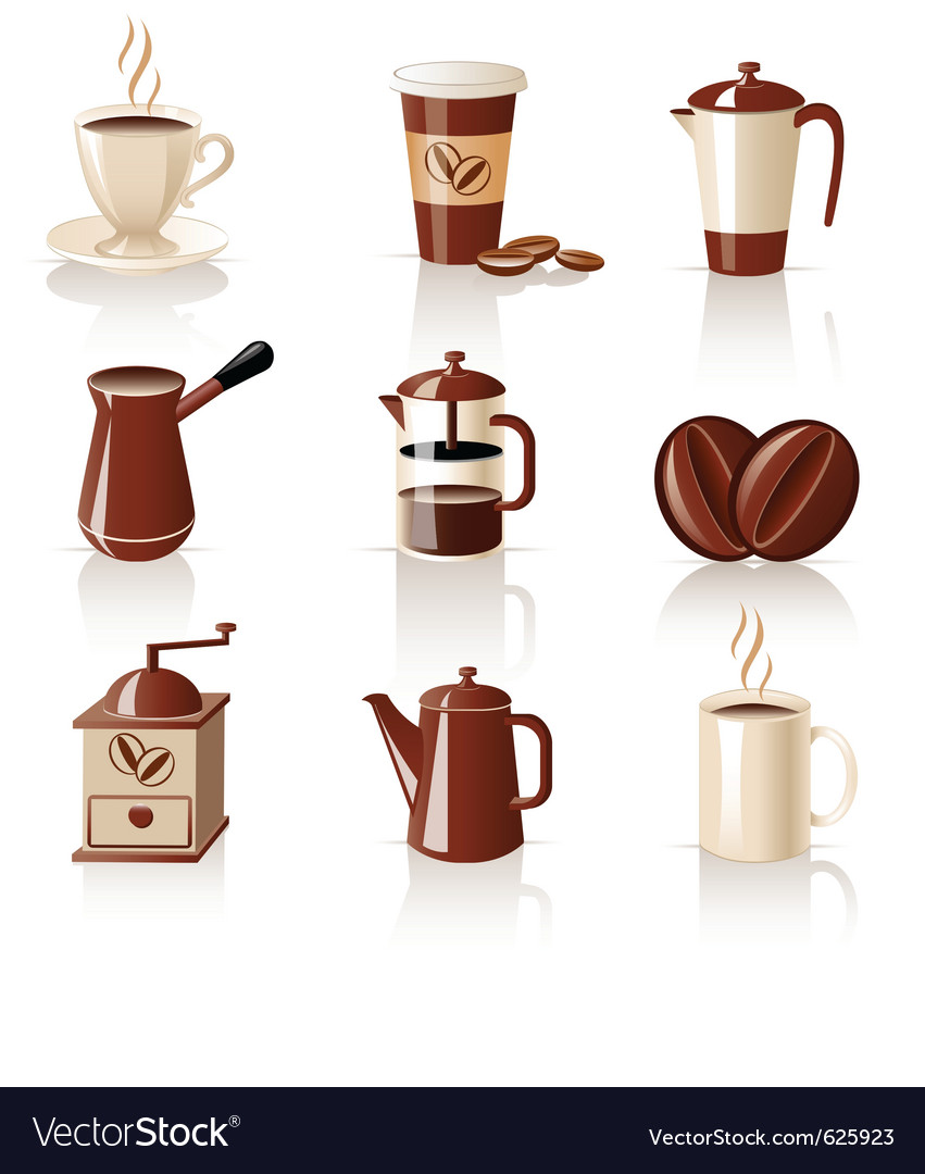 Coffee set vector | Price: 1 Credit (USD $1)