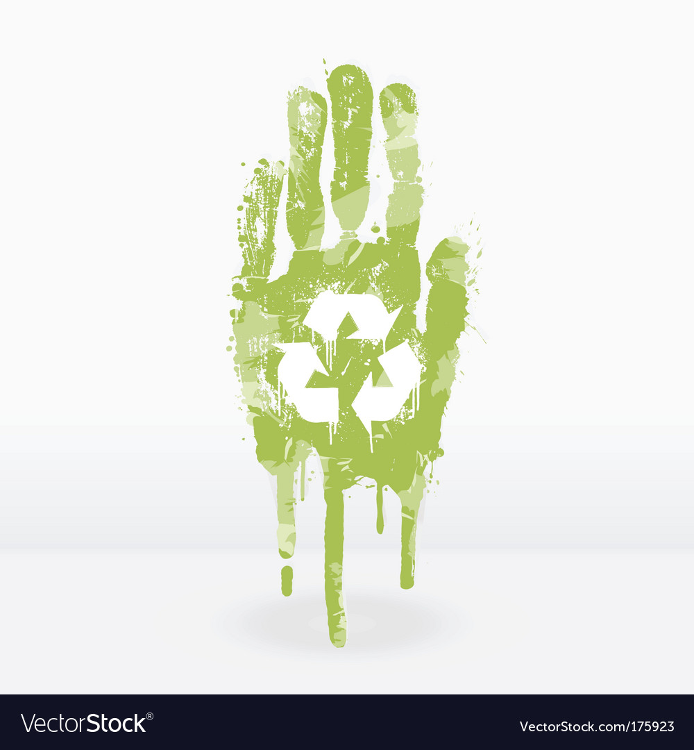 Ecological hand design vector | Price: 1 Credit (USD $1)