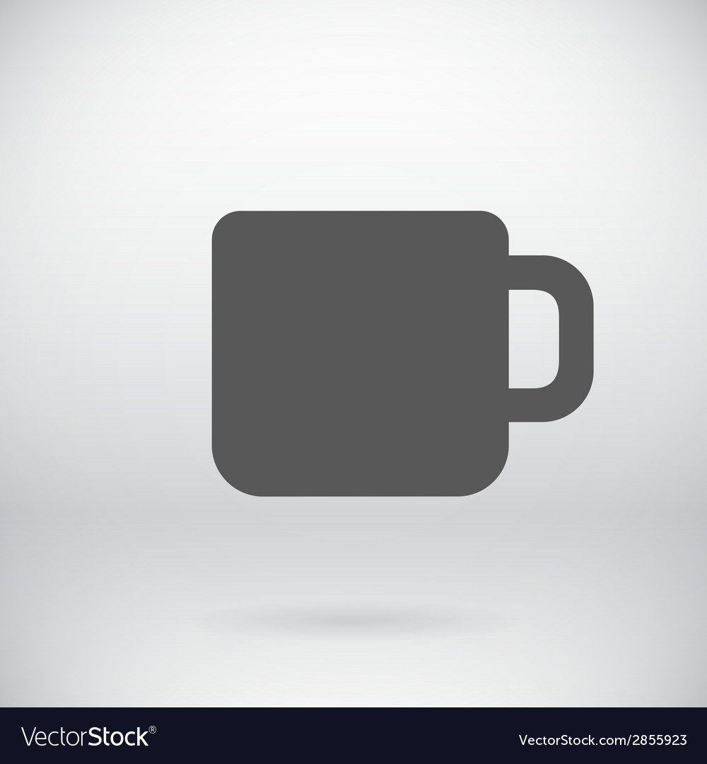 Flat coffee mug tea cup icon symbol background vector | Price: 1 Credit (USD $1)