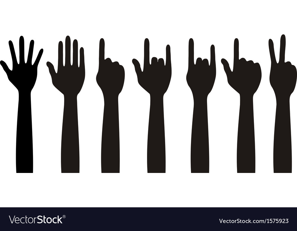 Human different hands gestures signals and signs vector | Price: 1 Credit (USD $1)
