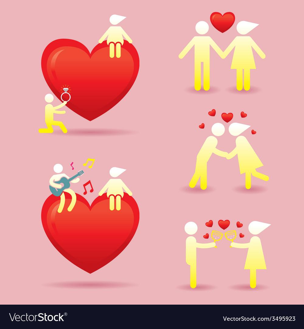 Human symbol love story concept vector | Price: 1 Credit (USD $1)