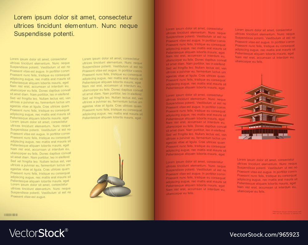 Magazine pages vector | Price: 1 Credit (USD $1)