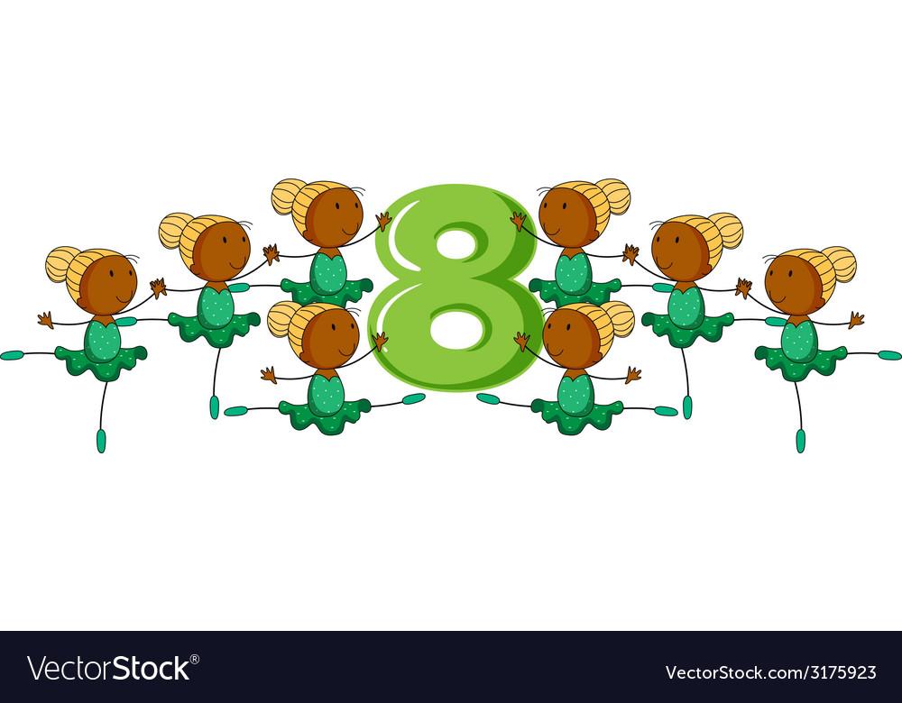 Number 8 vector | Price: 1 Credit (USD $1)