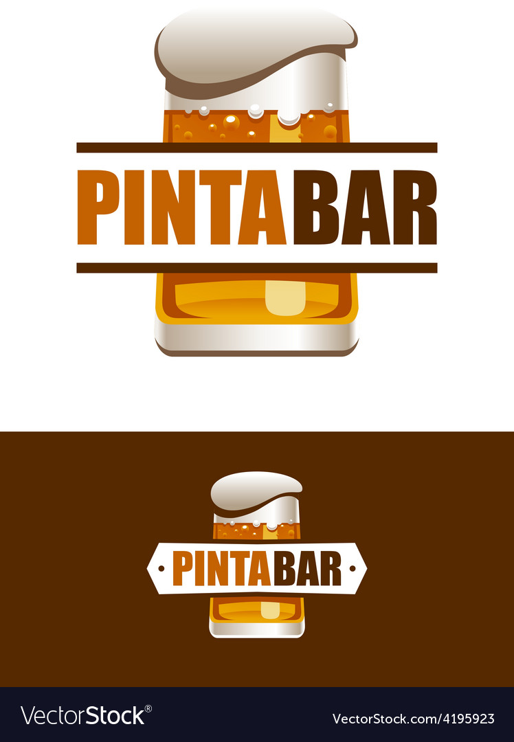 Pinta bar logo vector | Price: 1 Credit (USD $1)