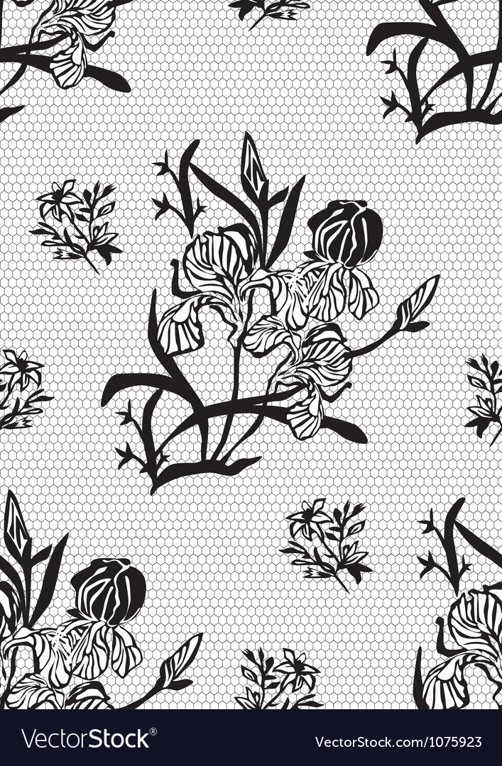Seamless lace background vector   Price: 1 Credit (USD $1)
