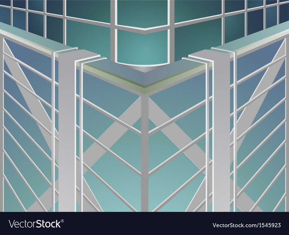 Skyscraper abstract background vector | Price: 1 Credit (USD $1)