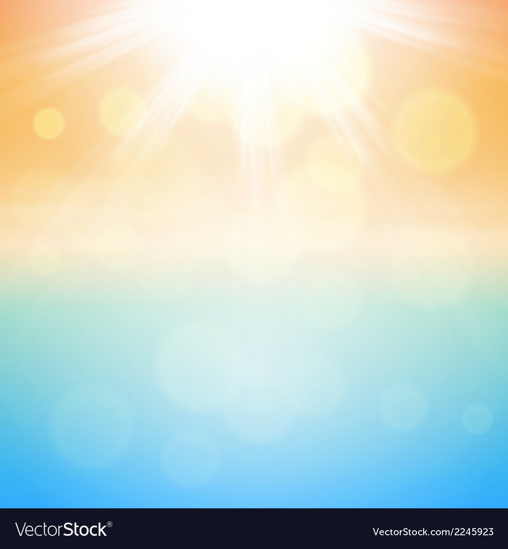 Sunny summer background vector | Price: 1 Credit (USD $1)
