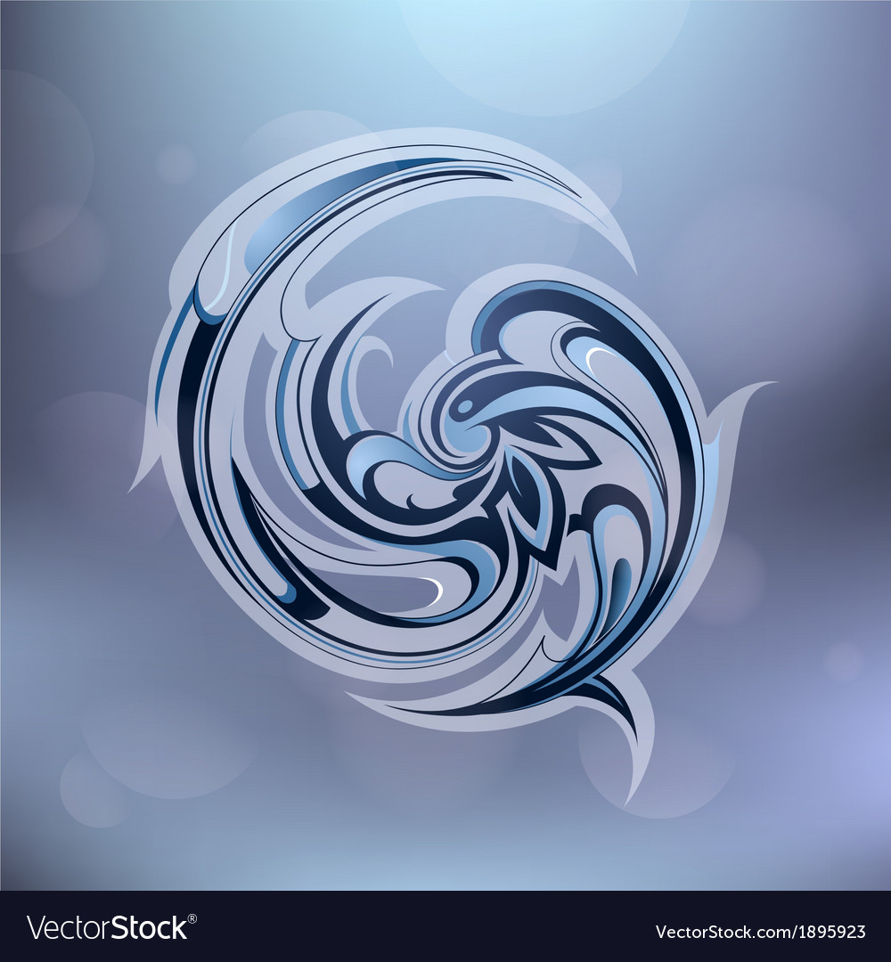 Water swirl vector | Price: 1 Credit (USD $1)