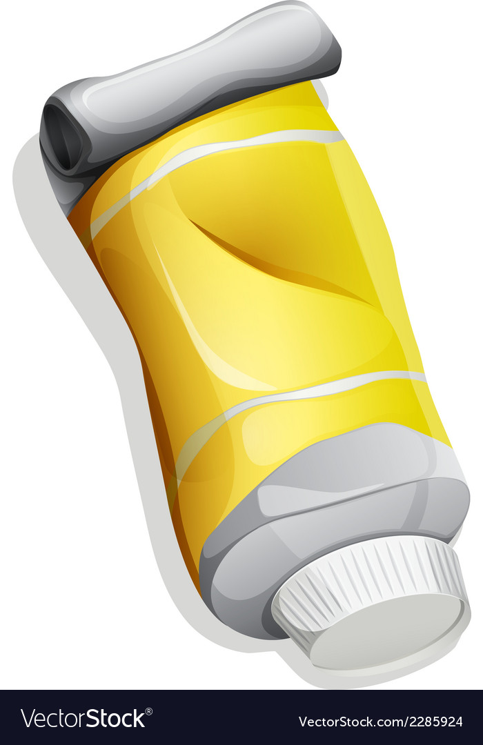 A topview of a yellow tube vector | Price: 1 Credit (USD $1)