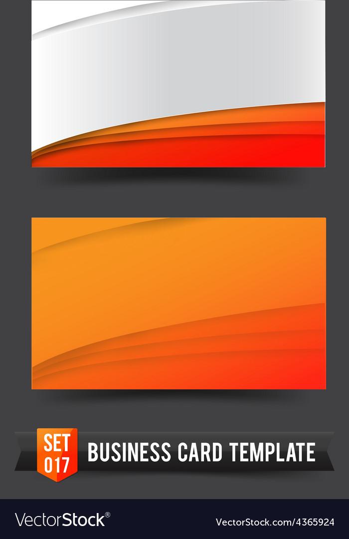 Business card template set 017 orange curve vector   Price: 1 Credit (USD $1)