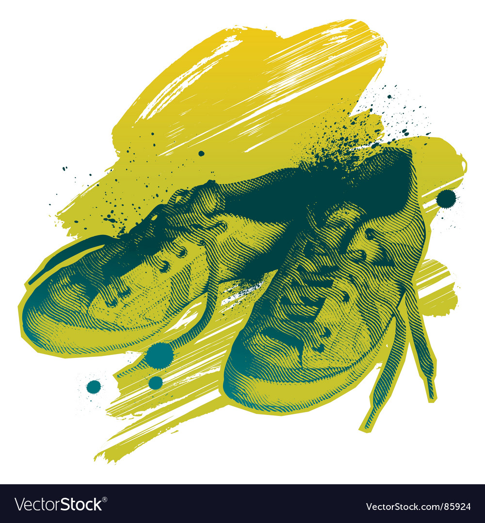 Casual shoes vector | Price: 1 Credit (USD $1)