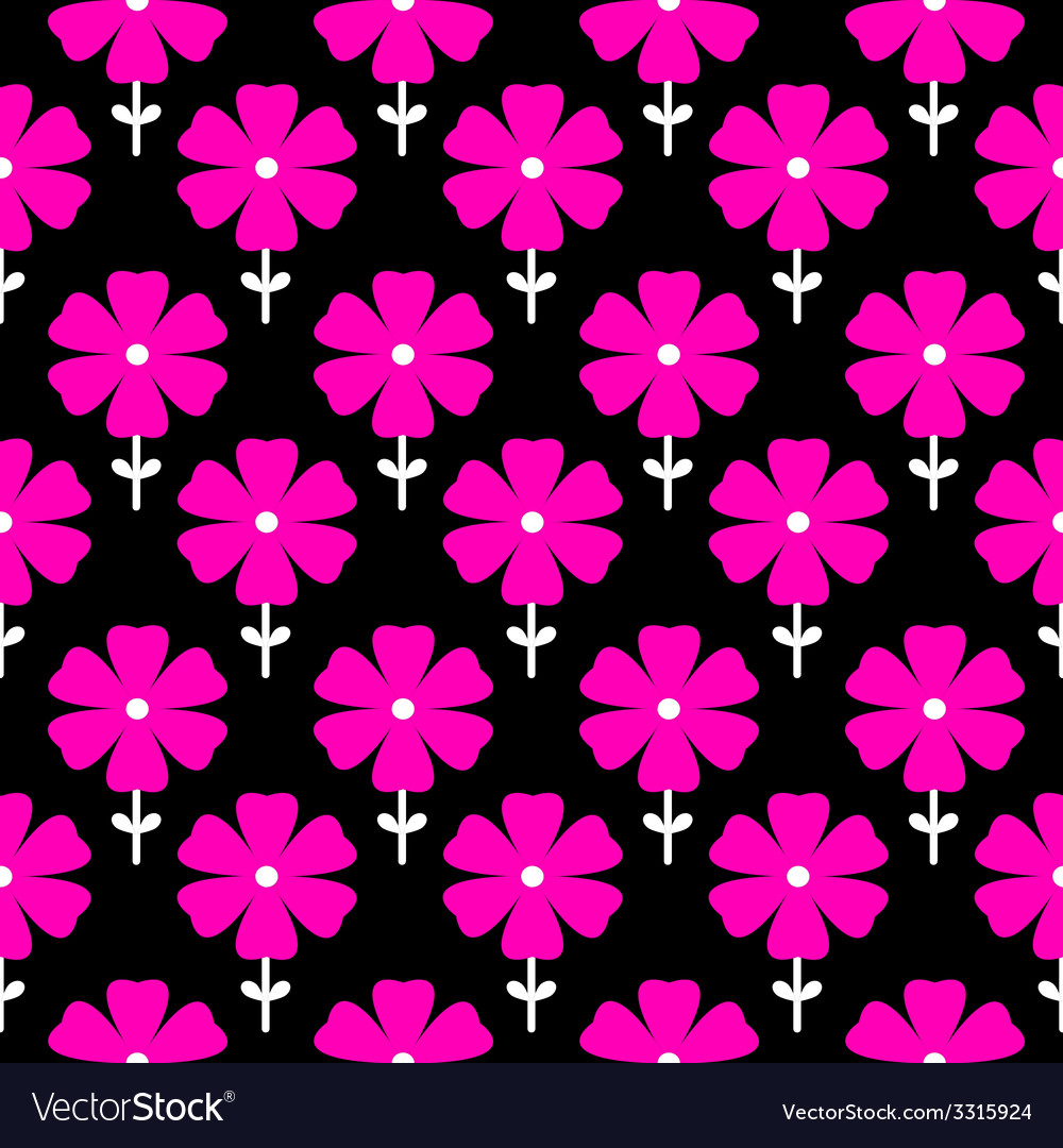 Floral seamless pattern flowers background vector   Price: 1 Credit (USD $1)