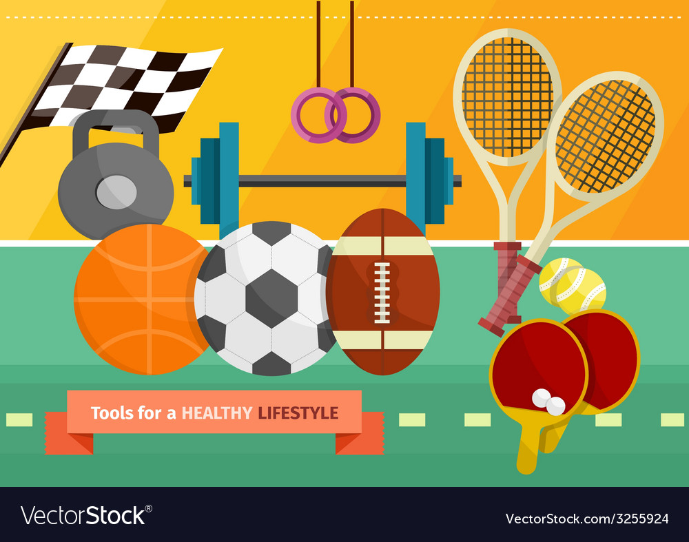 Gym with sport equipment concept vector | Price: 1 Credit (USD $1)