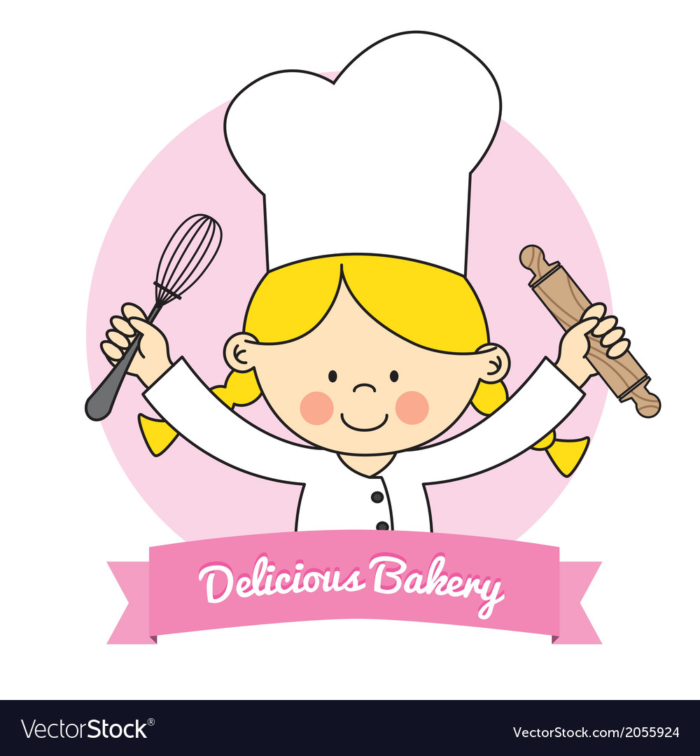 Little chef girl vector | Price: 1 Credit (USD $1)