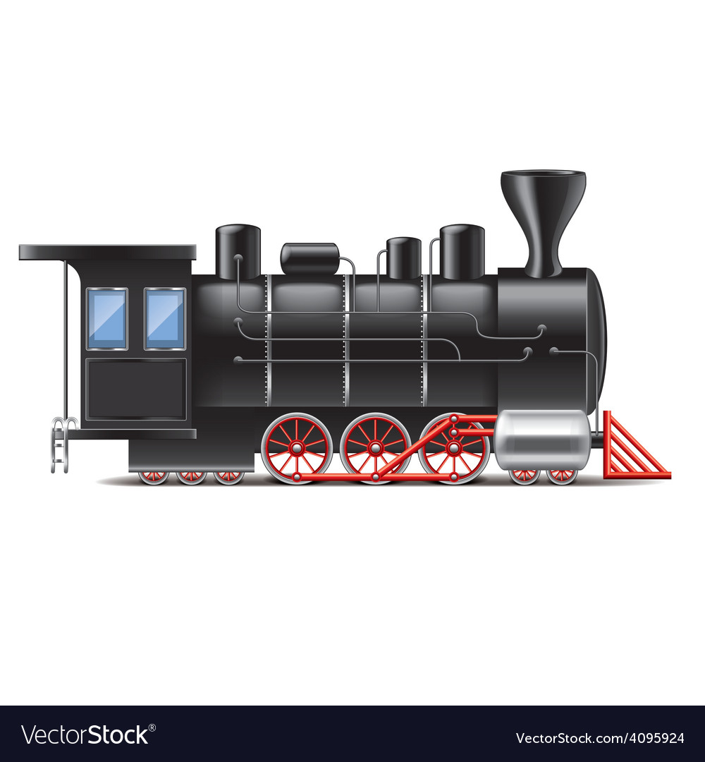 Locomotive isolated vector | Price: 3 Credit (USD $3)
