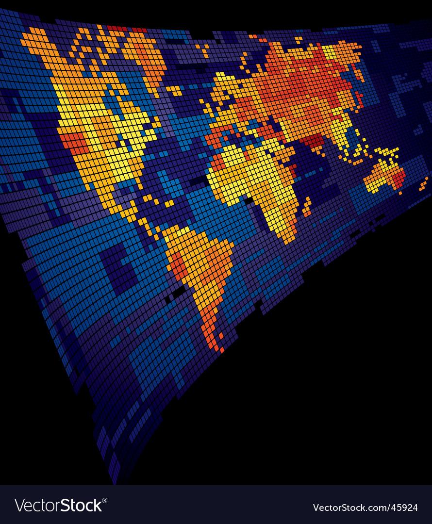 Luminous world map vector | Price: 1 Credit (USD $1)
