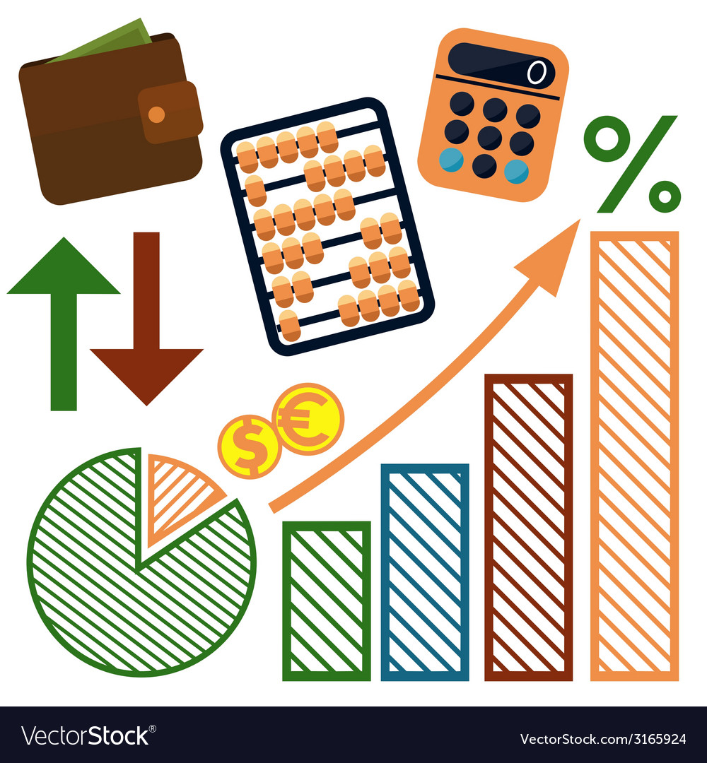 Money finance banking icons set vector   Price: 1 Credit (USD $1)