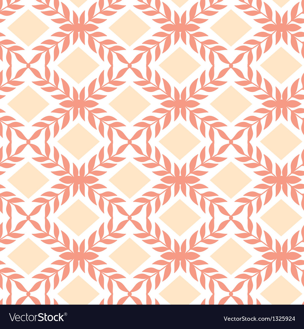 Peach orange argyle retro seamless pattern vector | Price: 1 Credit (USD $1)