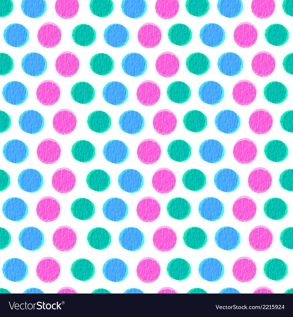 Seamless pattern with color circles vector | Price: 1 Credit (USD $1)