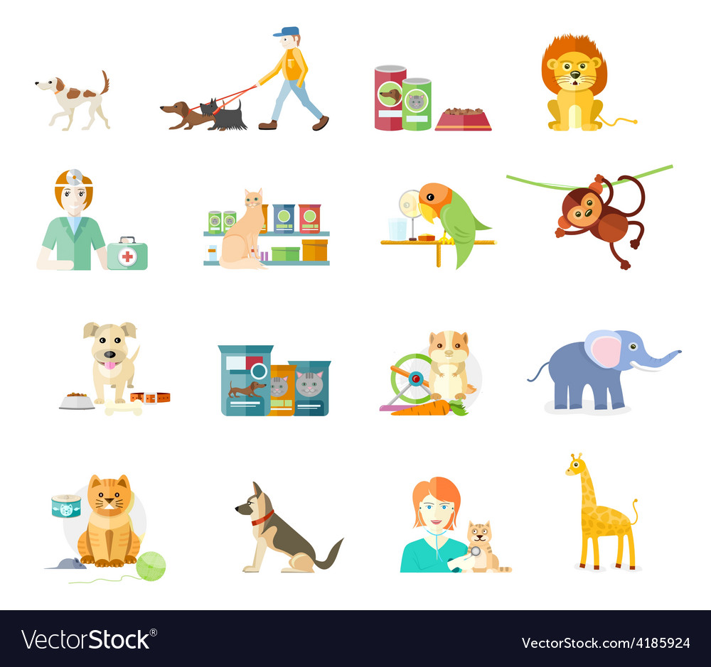 Set of home pets vector | Price: 1 Credit (USD $1)