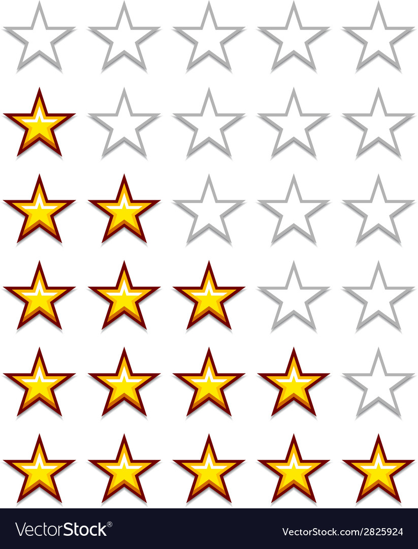 Simple yellow rating stars vector | Price: 1 Credit (USD $1)