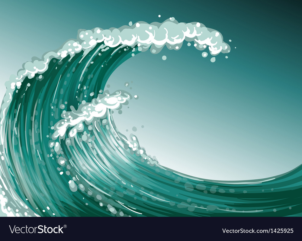 A high wave at the sea vector | Price: 1 Credit (USD $1)