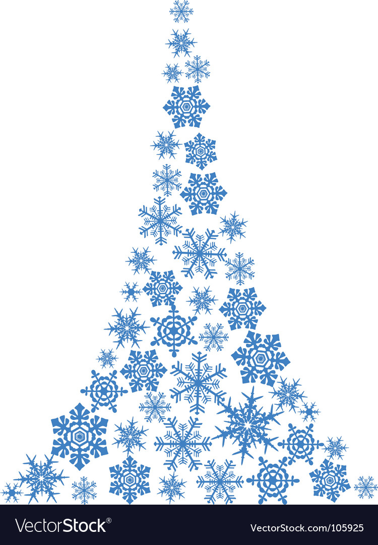 Abstract christmas tree simple drawing vector | Price: 1 Credit (USD $1)