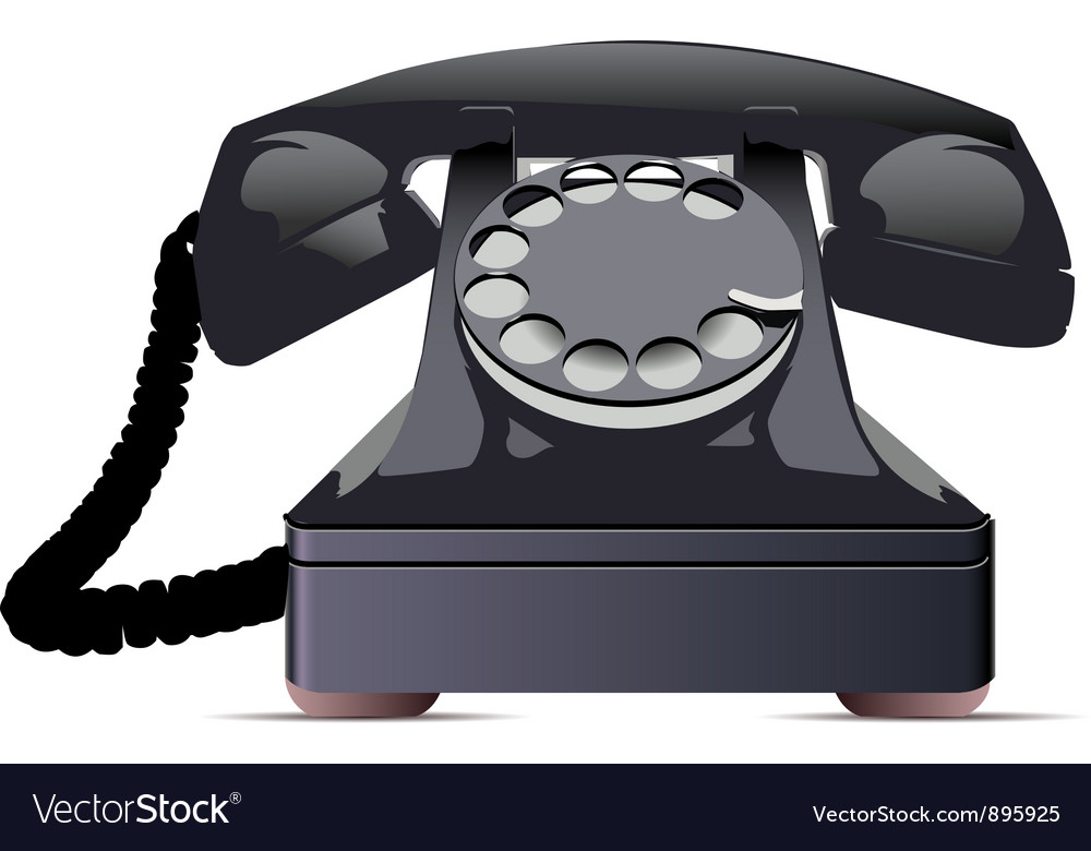 Black telephone vector | Price: 3 Credit (USD $3)