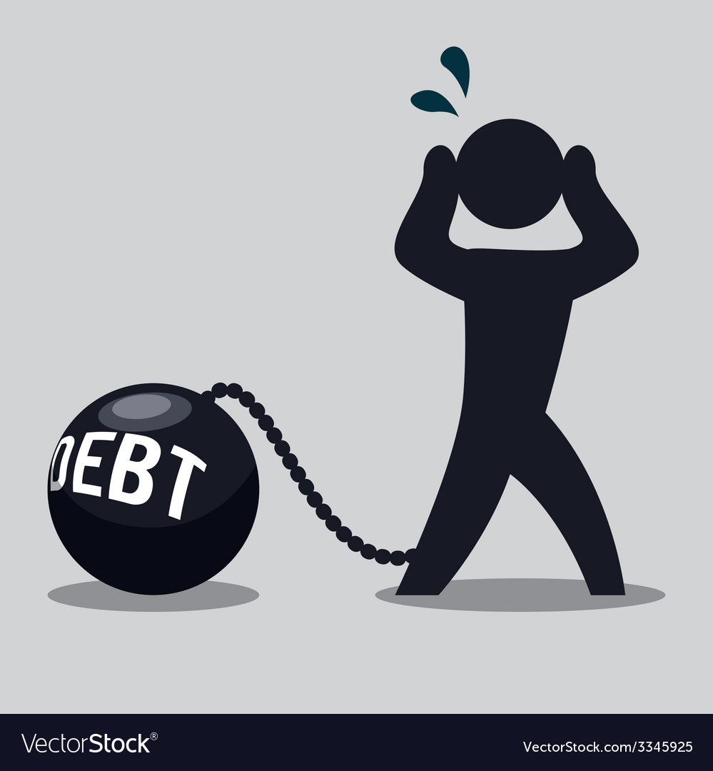 Debt design vector