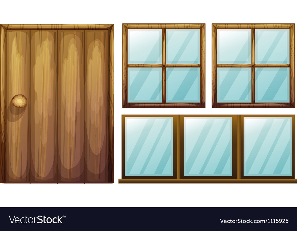 Door and windows vector | Price: 1 Credit (USD $1)