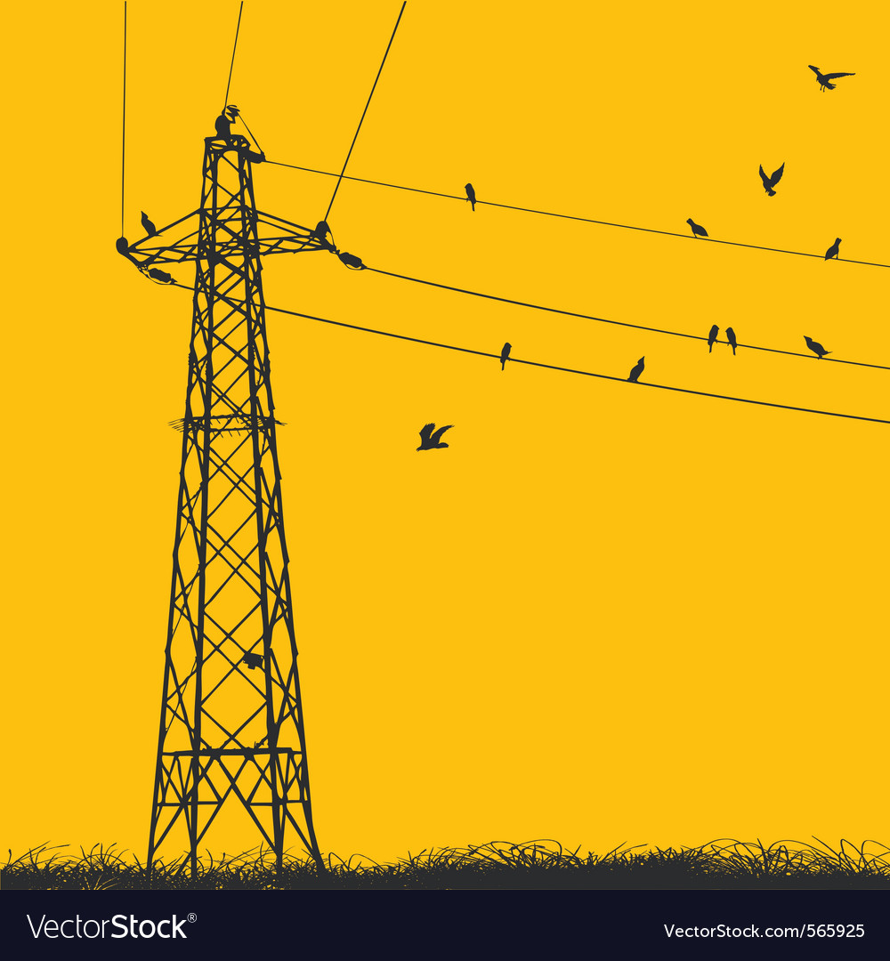 Electricity pylon vector | Price: 1 Credit (USD $1)