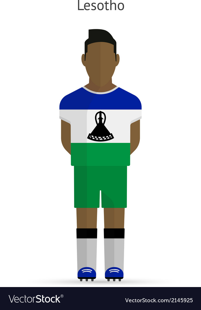 Lesotho football player soccer uniform vector | Price: 1 Credit (USD $1)