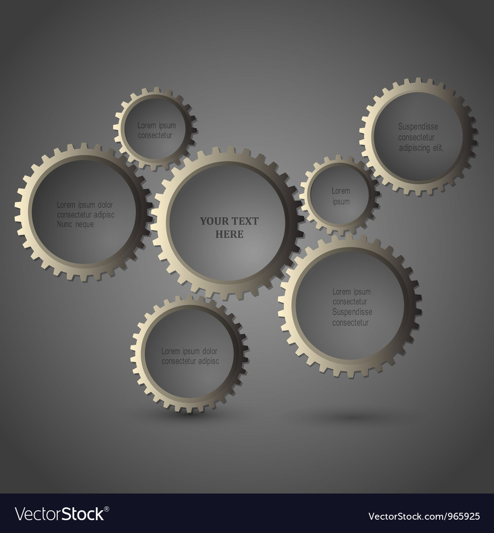 Metallic gear wheels vector | Price: 1 Credit (USD $1)
