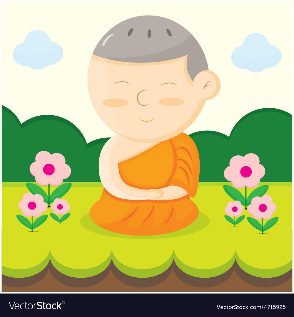 Monk cartoon vector | Price: 1 Credit (USD $1)
