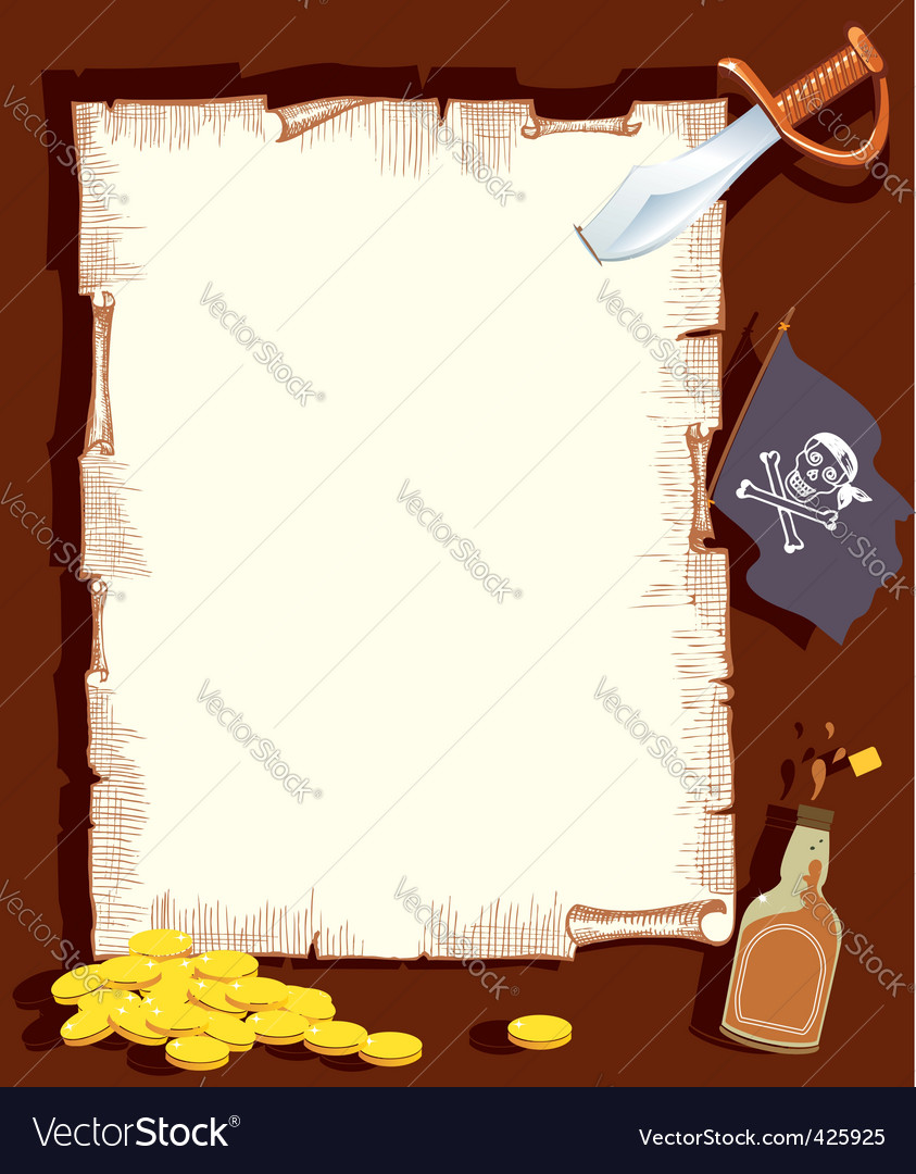 Pirate background vector | Price: 1 Credit (USD $1)