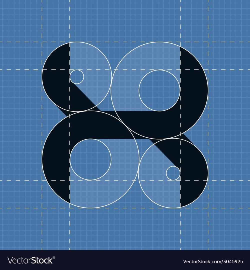 Round engineering font symbol x vector | Price: 1 Credit (USD $1)