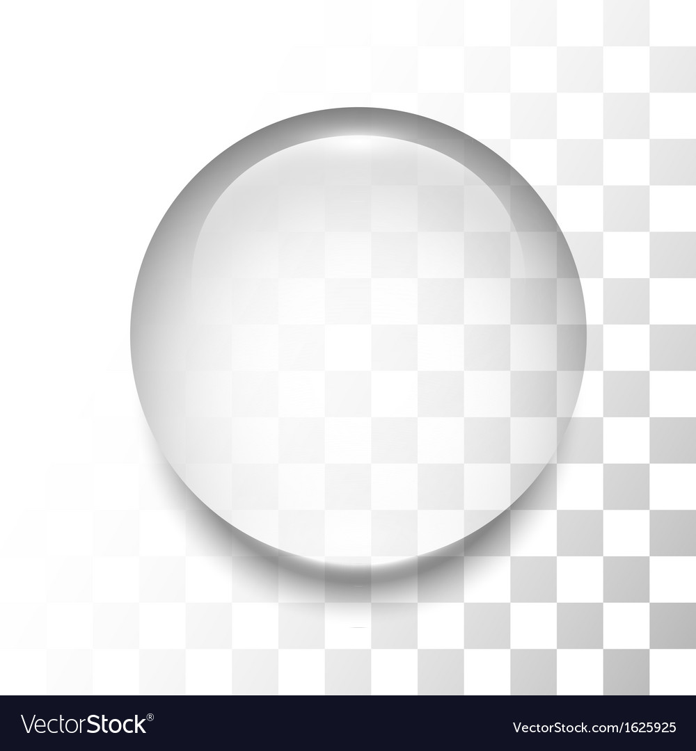 Transparent drop with shadow and reflection vector | Price: 1 Credit (USD $1)