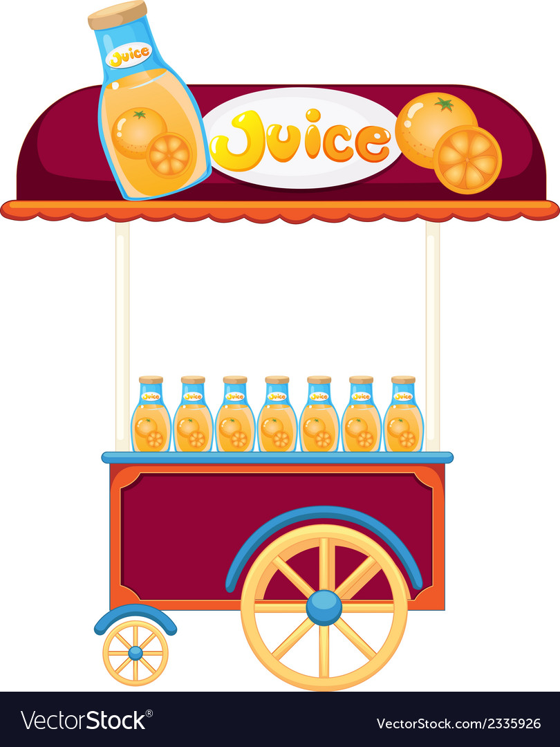 A pushcart selling orange juice vector | Price: 1 Credit (USD $1)