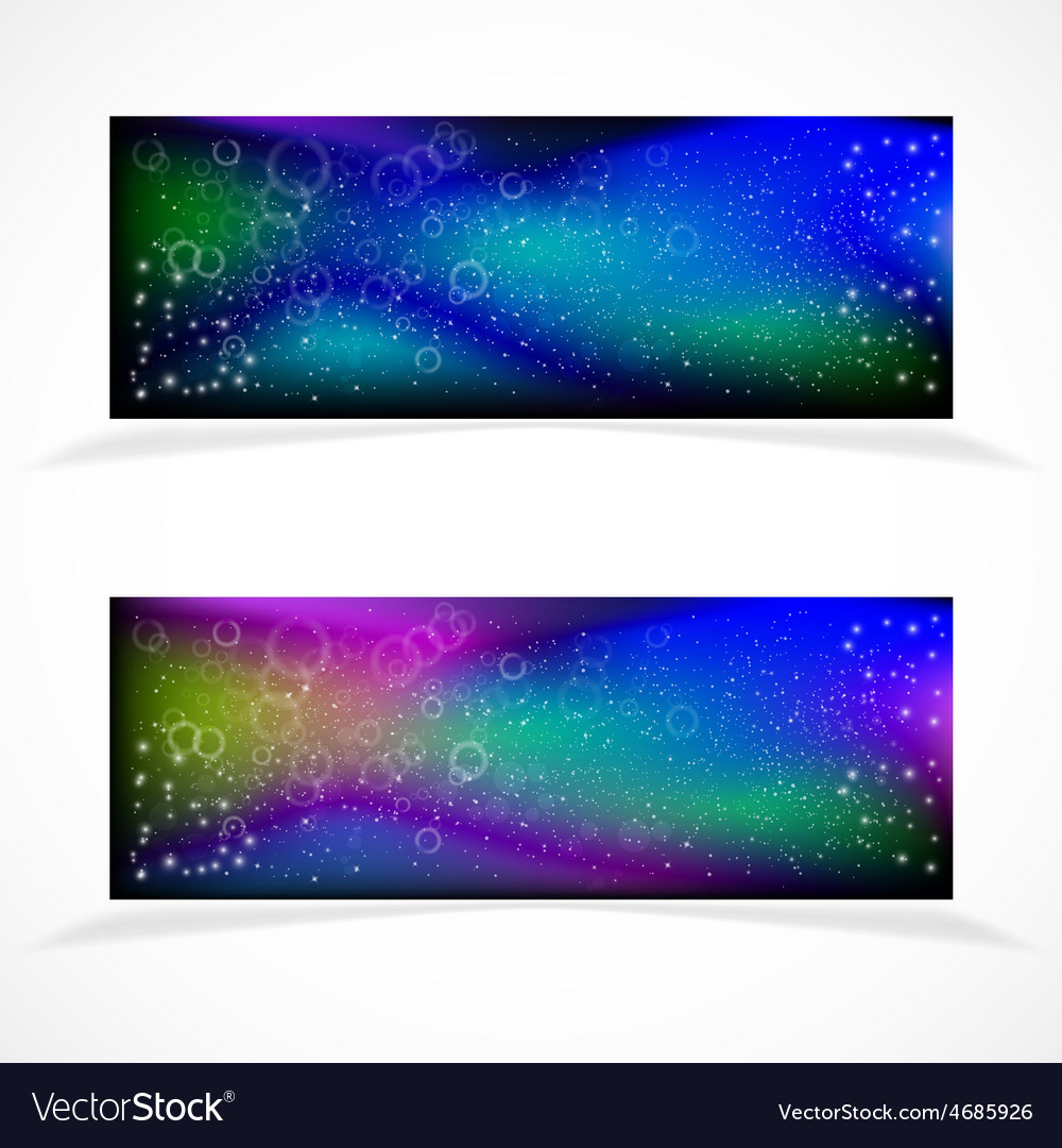 Banners with stars vector | Price: 1 Credit (USD $1)