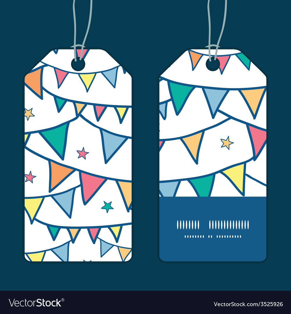 Colorful doodle bunting flags vertical stripe vector   Price: 1 Credit (USD $1)