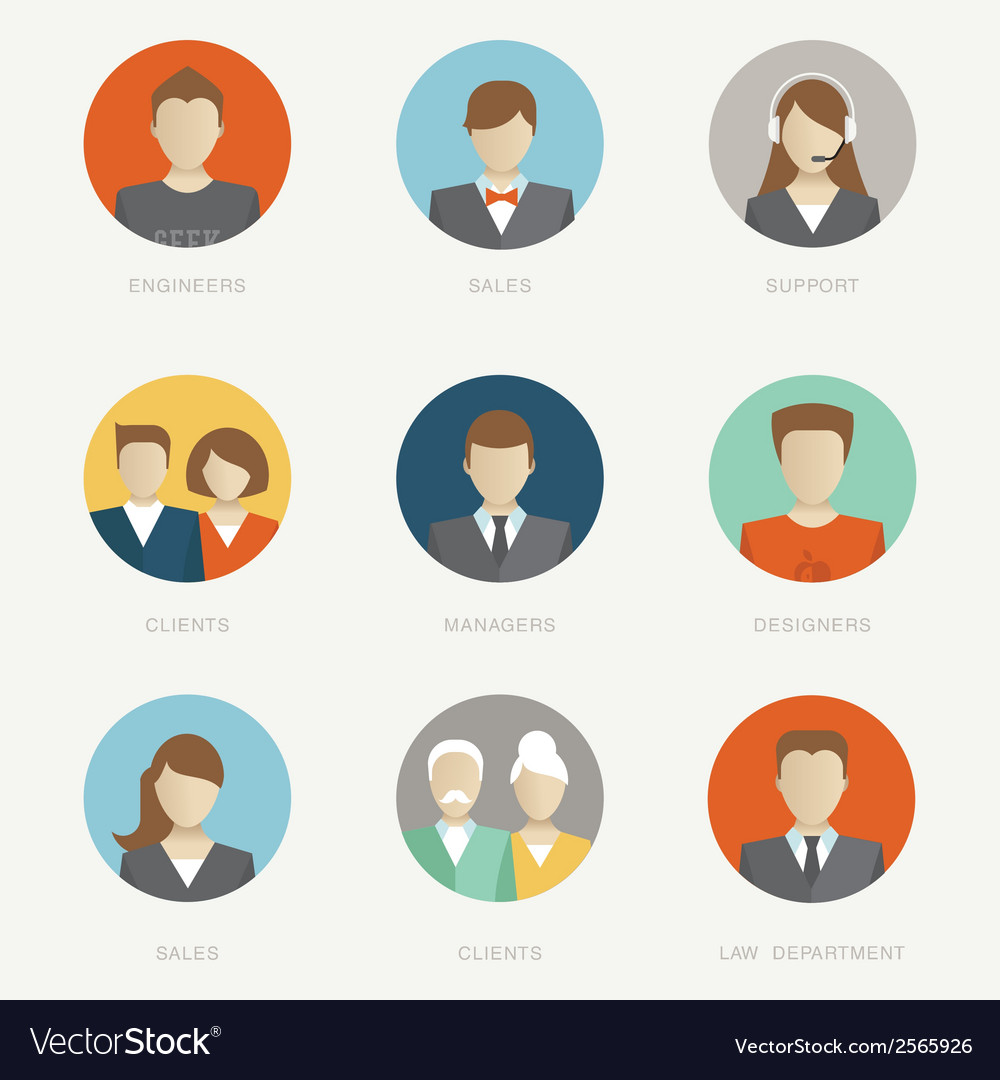 Company avatars vector | Price: 1 Credit (USD $1)