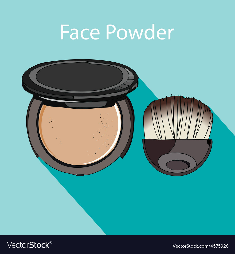 Face powder style flat vector | Price: 1 Credit (USD $1)