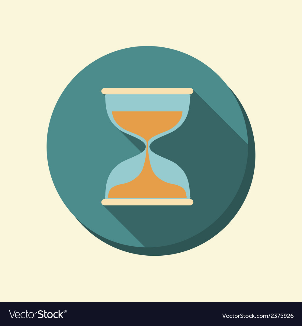 Flat circle web icon hourglass waiting vector | Price: 1 Credit (USD $1)