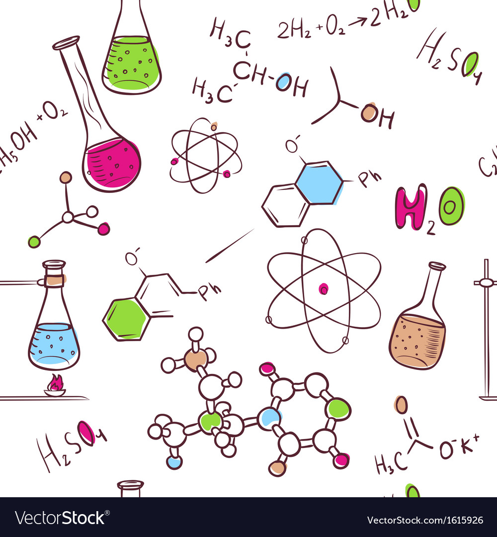 Hand draw chemistry pattern vector | Price: 1 Credit (USD $1)