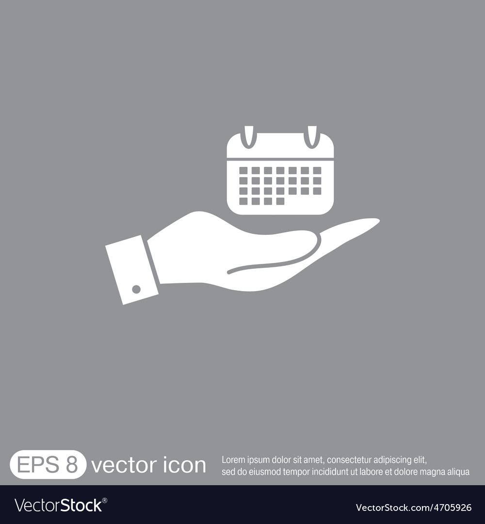 Hand holding a calendar vector   Price: 1 Credit (USD $1)
