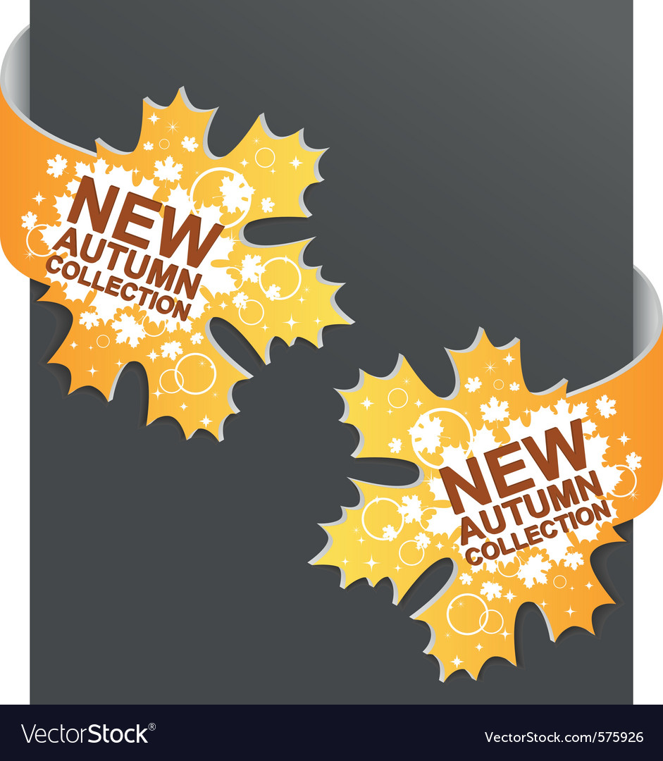 Left and right side sign  new autumn collection vector | Price: 1 Credit (USD $1)