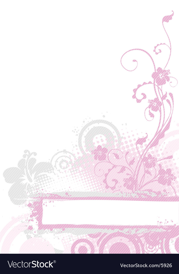 Pink floral background vector   Price: 1 Credit (USD $1)