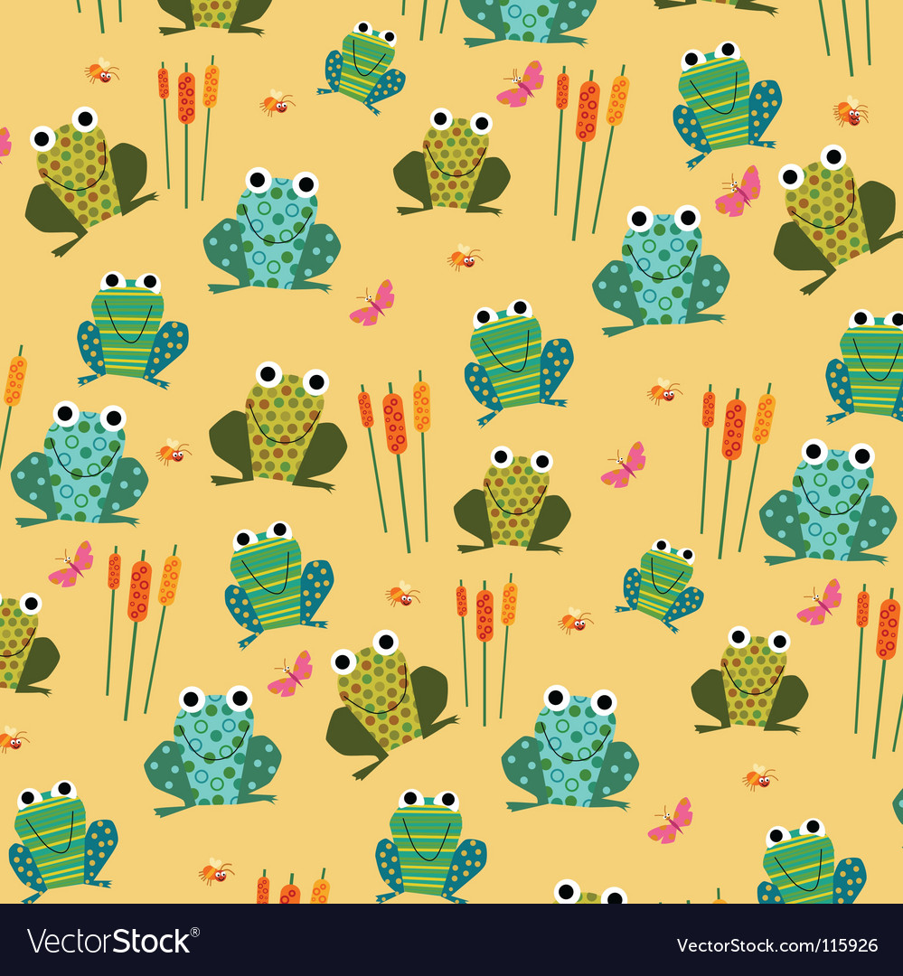 Retro frog pattern vector | Price: 1 Credit (USD $1)