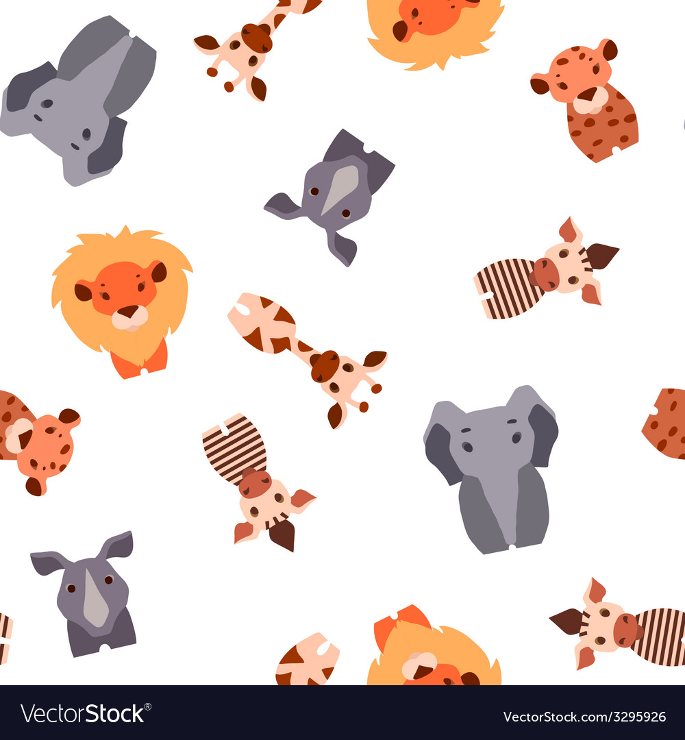 Seamless pattern with safari animals vector | Price: 1 Credit (USD $1)